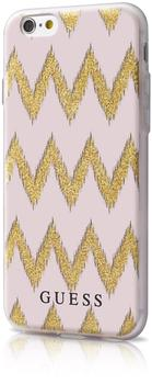 Guess 3D Effect Stripes Chevron Beige/Gold für Apple iPhone 6/6s