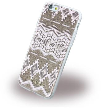 Guess 3D Effect Aztec Tribal braun für Apple iPhone 6/6S