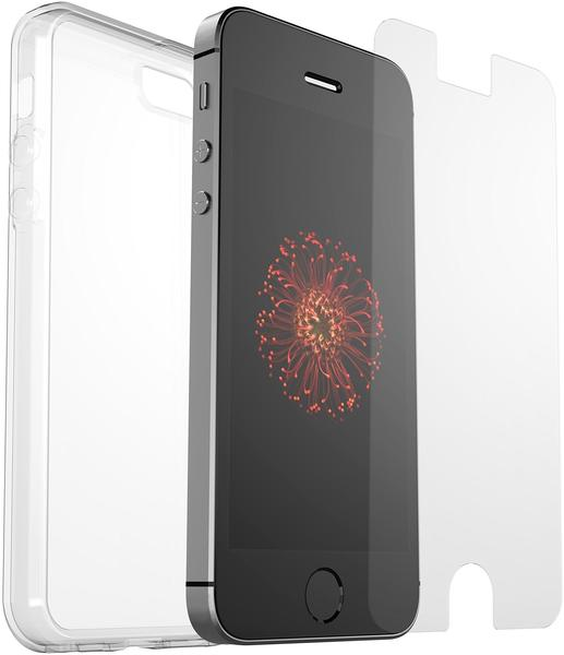 OtterBox Clearly Protected Skin (iPhone SE) mit Alpha Glas