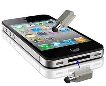 König-Shop Eingabestift Touch Pen für Handy Apple iPhone 4 & 4S Silber