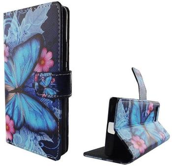 König-Shop Handyhülle Tasche für Handy Sony Xperia Blauer Schmetterling