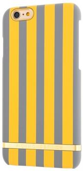 Richmond & Finch Mustard Stripes for iPhone 6/6s gelb