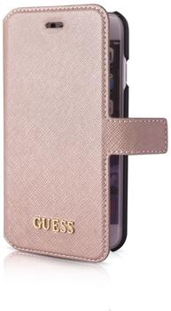 Guess Saffiano BookCover - Apple iPhone 7 - Pink