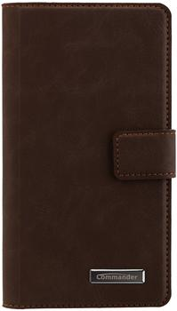 Peter Jäckel COMMANDER BOOK CASE ELITE Nubuk Brown Huawei P9 Lite