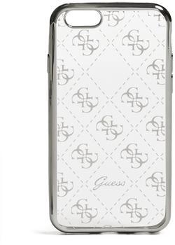Guess 4G TPU Schutzhülle für Apple iPhone 7 Silber