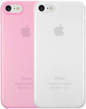 Ozaki O!coat 0.3 Jelly Slim 2in1 (iPhone 7/8) transparent/pink