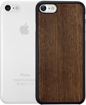 Ozaki O!coat 0.3 Jelly + Wood 2in1 (iPhone 7/8) transparent/ebenholz