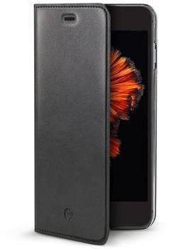 Celly Echtleder-FlipCase für iPhone 7 Air Pelle schwarz