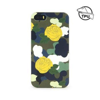 Tucano Brio Camouflower, TPU Case für iPhone 5, 5s und SE, grün