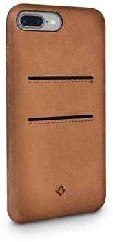 Twelve South Relaxed Leather Clip, with pockets, for iPhone 7 Plus, cognac