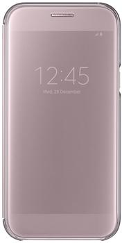 Samsung Clear View Cover (Galaxy A5 2017) pink