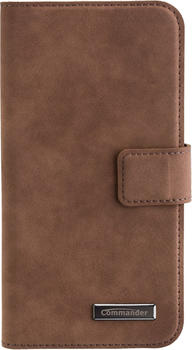 Peter Jäckel COMMANDER BOOK CASE ELITE Nubuk Brown Samsung Galaxy A5 (2017)