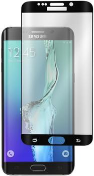 PhoneNatic 1 x Samsung Galaxy S6 Edge Plus Glas-Displayschutzfolie klar schwarz