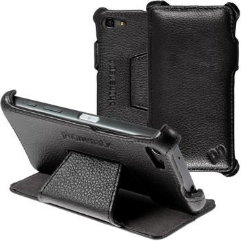 PhoneNatic Echt-Lederhülle für Sony Xperia Z5 Compact Leder-Case schwarz Tasche Xperia Z5 Compact Hü