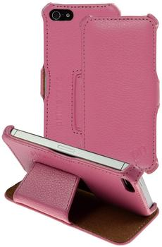 PhoneNatic Echt-Lederhülle für Apple iPhone 55sSE Leder-Case rosa Tasche iPhone 55sSE Hü