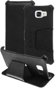 PhoneNatic Echt-Lederhülle für Samsung Galaxy A5 (2016) A510 Leder-Case schwarz Tasche Galaxy A5 (20