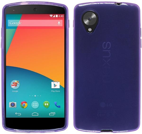 PhoneNatic Silikonhülle für Google Nexus 5 transparent lila