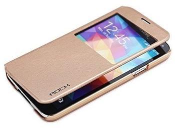 ROCK Original ROCK Window Smartcover Gold für Samsung Galaxy S5 G900 G900F