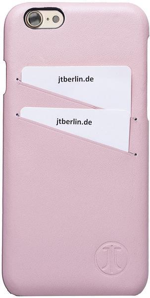 JT Berlin Handytasche Echtleder Leather Cover Style für Apple iPhone 7 rosa