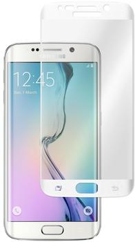 Phonenatic 1 x Samsung Galaxy S6 Edge Glas-Displayschutzfolie klar weiß