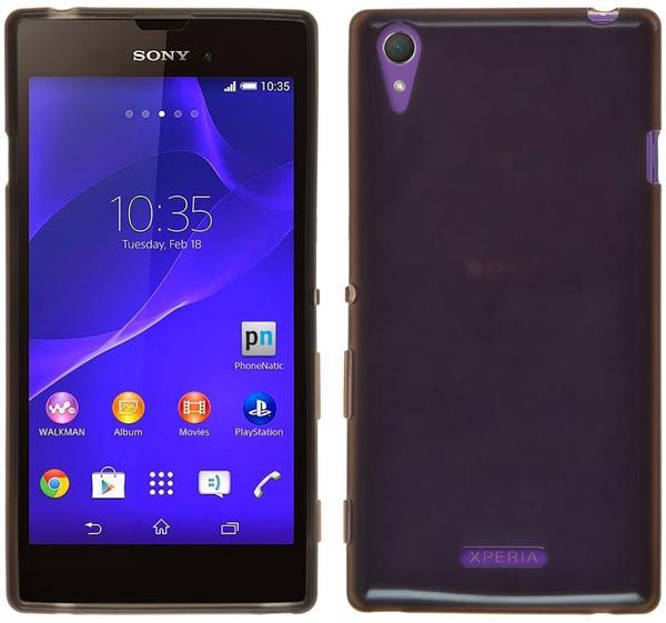Phonenatic Sony Xperia Style Hülle Silikon lila S-Style Case Xperia Style Tasche + Schutzfolien
