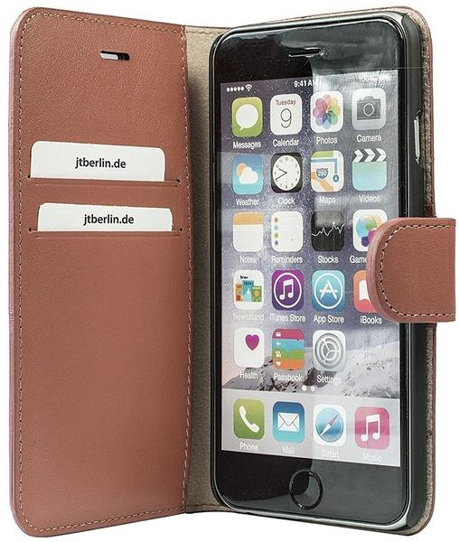 JT Berlin Handytasche Leather Book Style für Apple iPhone 7 braun