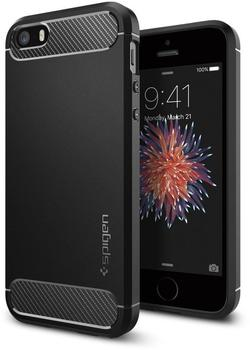 Spigen Case Rugged Armor (iPhone SE/5S/5) schwarz
