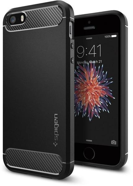 Spigen Case Rugged Armor (iPhone SE/5S/5) schwarz