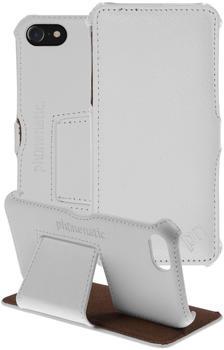 PhoneNatic Echt-Lederhülle für Apple iPhone 7 Leder-Case weiß Tasche iPhone 7 Hülle + Glasfolie