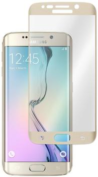 PhoneNatic 1 x Samsung Galaxy S6 Edge Glas-Displayschutzfolie klar gold