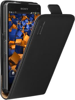 Mumbi Premium Leder Flip Case Sony Xperia Z3 compact schwarz