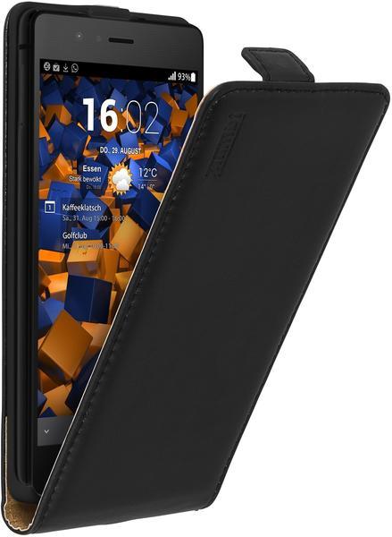 mumbi Flip Case Ledertasche schwarz für Huawei P9 Lite