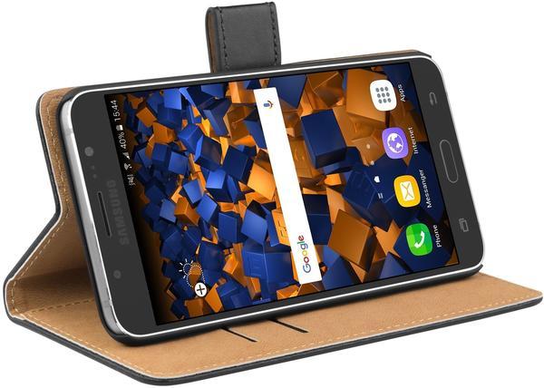 mumbi Bookstyle Tasche schwarz für Samsung Galaxy J7 (2016)