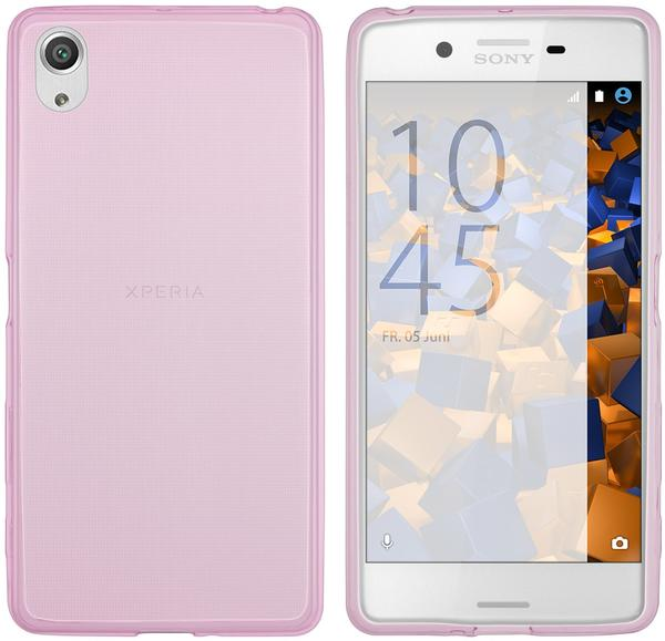 mumbi TPU Hülle Ultra Slim pink transparent für Sony Xperia X Performance
