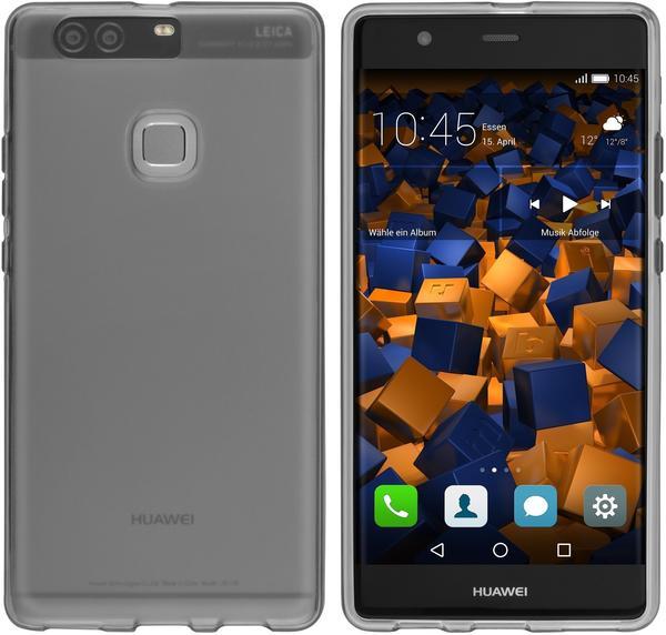mumbi TPU Hülle schwarz transparent für Huawei P9 Plus