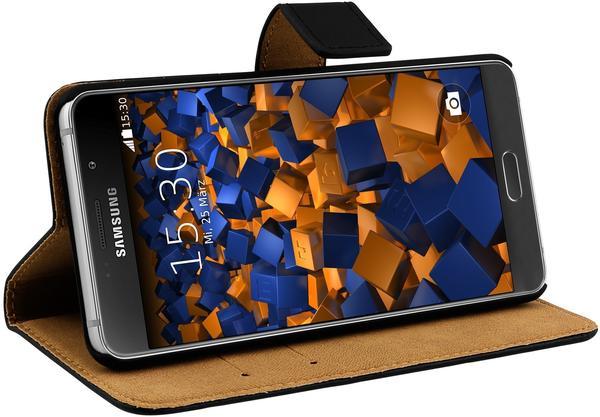 mumbi Bookstyle Ledertasche schwarz für Samsung Galaxy A5 (2016)