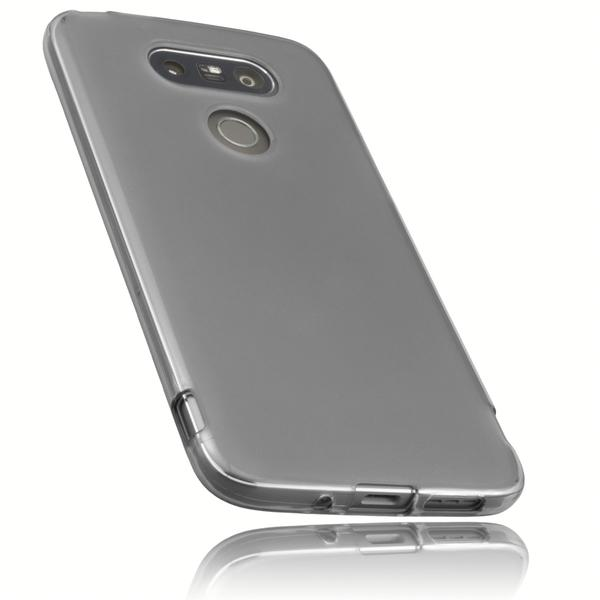 mumbi TPU Hülle schwarz transparent für LG G5