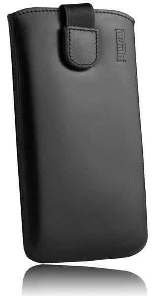 mumbi Leder Etui Tasche mit Ausziehlasche schwarz für Samsung Galaxy J5 (2015)