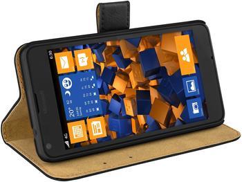 Mumbi Bookstyle Tasche schwarz (Microsoft Lumia 640)