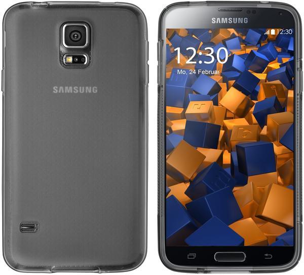 mumbi TPU Hülle transparent schwarz für Samsung Galaxy S5S5 Neo