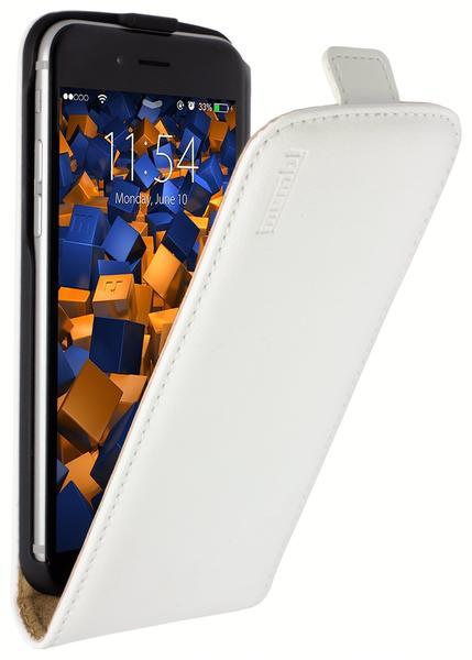 mumbi Flip Case Ledertasche weiß für Apple iPhone 6 6s