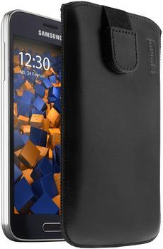 Mumbi Ledertasche Schwarz (Samsung Galaxy S5 Mini)