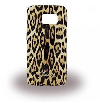 Guess Animal - Leopard - TPU Handy CoverCaseSchutzhülle - Samsung G925F Galaxy S6 Edge - Braun