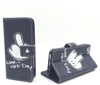 König-Shop Handy Tasche Book Style Rahmen Flip Cover Case Schutz Hülle Etui Motiv Wallet, Für Handy:ZTE Blade L3,