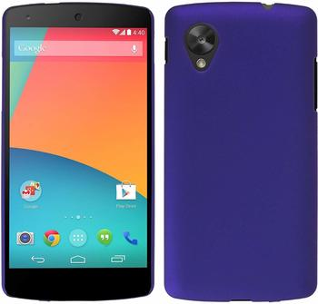 PhoneNatic Hardcase Google Nexus 5 gummiert lila