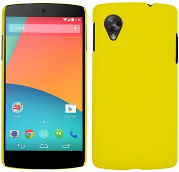 PhoneNatic Hardcase Google Nexus 5 gummiert gelb