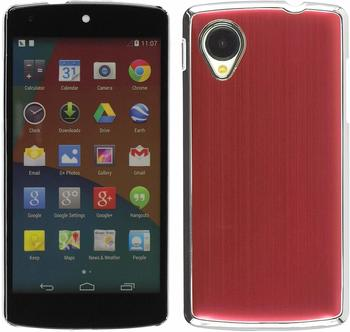 PhoneNatic Hardcase für Google Nexus 5 Metallic rot