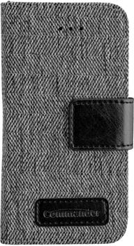 Peter Jäckel COMMANDER BOOK CASE DRESS GREY iPhone 5/ 5S/ SE black