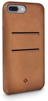 Twelve South Relaxed Leather Clip, with pockets, for iPhone 7, cognac