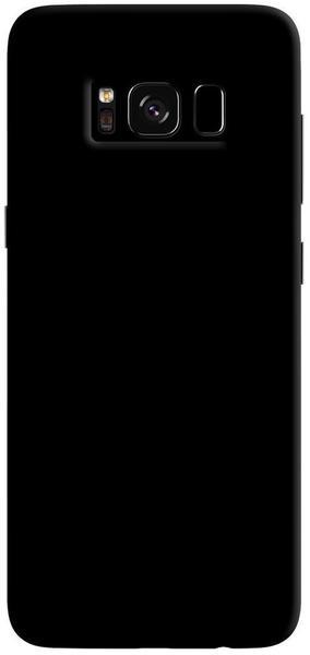 PEDEA Soft TPU Case (glatt) für Galaxy S8, Schwarz
